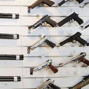 The Shooters Shop Pistol Display